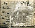 COLLECTIE TROPENMUSEUM Batavia met het Kasteel anno 1681 TMnr 5681-1.jpg