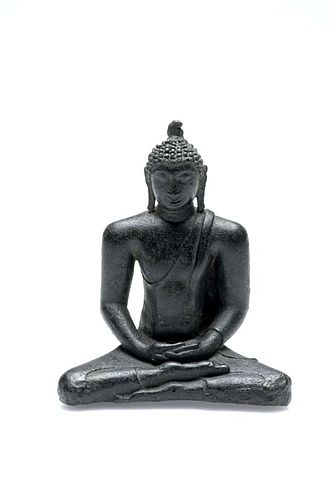 Pannai - Buddha Amitabha bronze statue from Pamutung in Padang Lawas. One of a few artifact linked to Pannai Kingdom