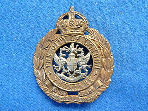 City of London Yeomanry (Rough Riders) - COLY Cap Badge
