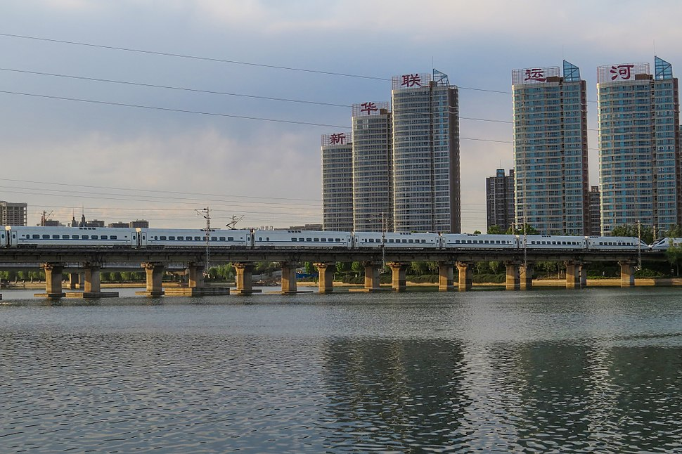 CRH5G-5150 at Grand Canal Bridge (20170608183052)