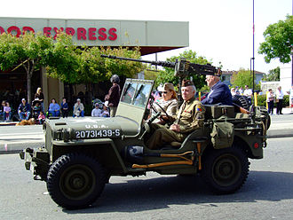 Jeep - Jeep with 50 cal. Browning machine gun