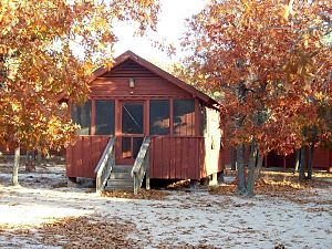 Singletary Lake State Park - One of the cabins of Camp Ipecac at Singletary Lake State Park