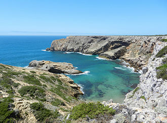 Cape St. Vincent - The clear waters of the St. Vincent coast and cliffs