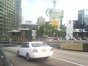 Cahill Expressway - The Cahill Expressway viewed from the Sydney Harbour Bridge