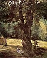 Caillebotte - Woman Seated under a Tree, circa 1874.jpg