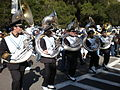 Cal Band en route to Memorial Stadium for 2008 Big Game 24.JPG
