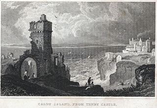 Caldy Island, from Tenby Castle
