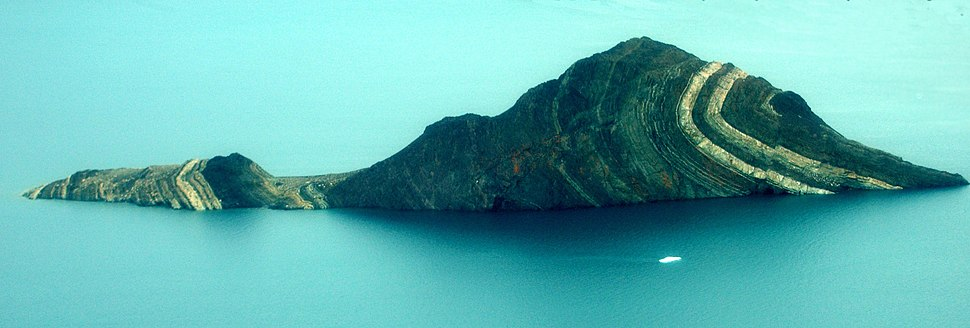 Caledonian orogeny fold in King Oscar Fjord