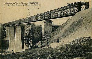 Souleuvre Viaduct - Image: Calvados viaduc souleuvre cpa vuegenerale