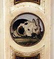 Camino raffaelli con inserti in micromosaico, xix secolo 07 coniglio.JPG