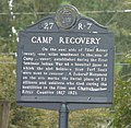 Camp Recovery historical marker closeup.jpg