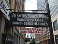 Camp St NOLA CBD Sept 2009 Ed Smith Sign.JPG