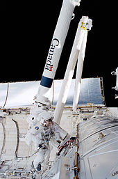 Canadarm2 installation during STS-100.jpg