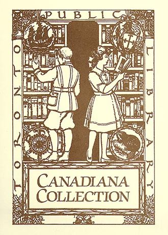 Canadiana - J. E. H. MacDonald's Toronto Public Library Canadiana bookplate