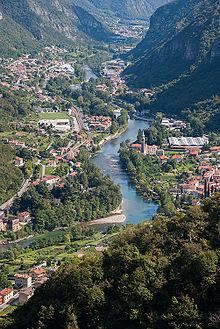 Il Canale di Brenta dove scorre l'omonimo fiume