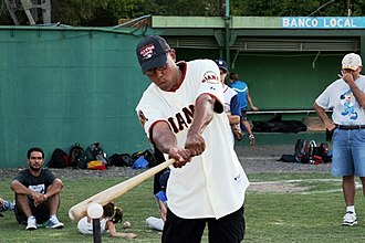 Candy Maldonado - Maldonado at a free baseball clinic in Argentina in 2009.