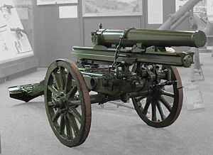 Canone 65/17 modello 13 on display at the US Army Ordnance Museum in Aberdeen, MD