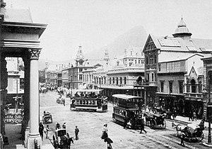 Adderley Street - Image: Cape Town trams, Adderley Street, ca. 1900