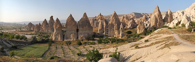 Some of the fascinating rock formations littering the Cappadocian landscape.
