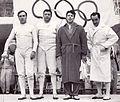 Carlo Pavesi, Giuseppe Delfino, Alberto Pellegrino, Edoardo Mangiarotti 1960.jpg