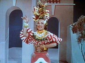 Week-End in Havana - Image: Carmen Miranda in Week End in Havana, 1941