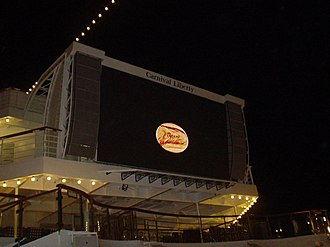 Cruise ship poolside theater - Image: Carnival Liberty Poolside