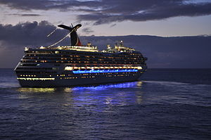 Carnival Glory - Image: Carnival Glory at Night