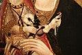 Carolino da viterbo, madonna col bambino tra i ss. girolamo e caterina d'alessandria, 1450 ca. 02 rose bianche e cardellino.jpg