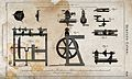 Carpentry; a treadle-operated lathe, with an assortment of t Wellcome V0023923.jpg