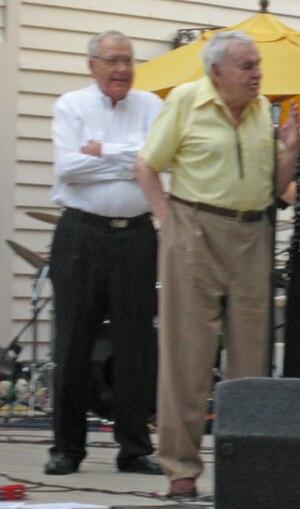 Chris Economaki - Economaki (right) with Carroll Shelby (left) at Virginia International Raceway in 2007