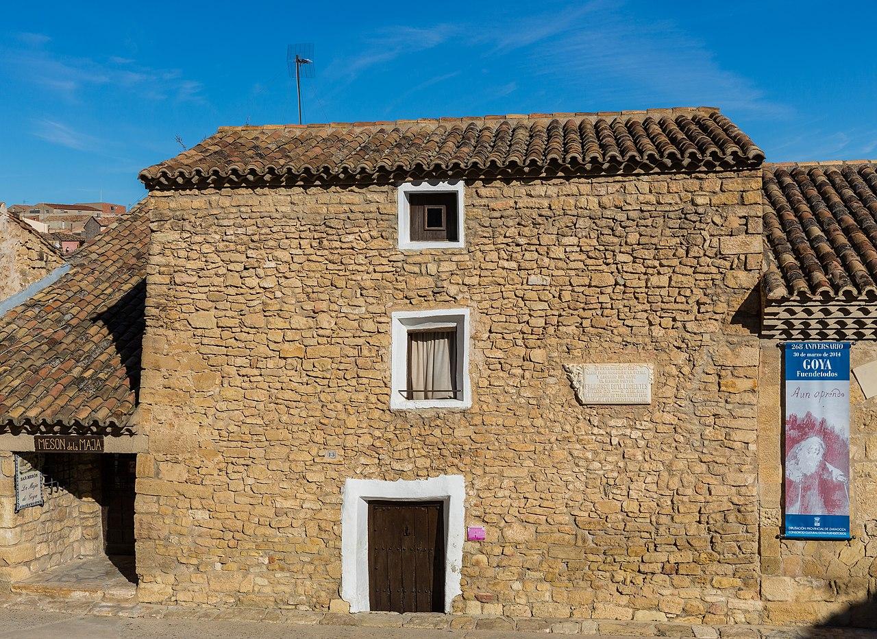 File:Casa natal de Francisco Goya, Fuendetodos, Zaragoza ...