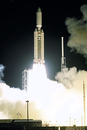 1997 in spaceflight - Launch of the Cassini and Huygens spacecraft on a Titan IVB