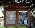 Castle Hedingham - St Nicholas' Church - Essex England - church exterior sign board.jpg