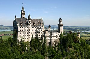 Neuschwanstein - perhaps the most famous 19th century neo-romantic castle in the world.