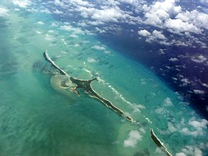 Cat Cays and Gun Cay aerial view in 2012 1.jpg