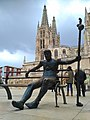 Catedral de Santa María en Burgos, Monumento al Peregrino.jpg