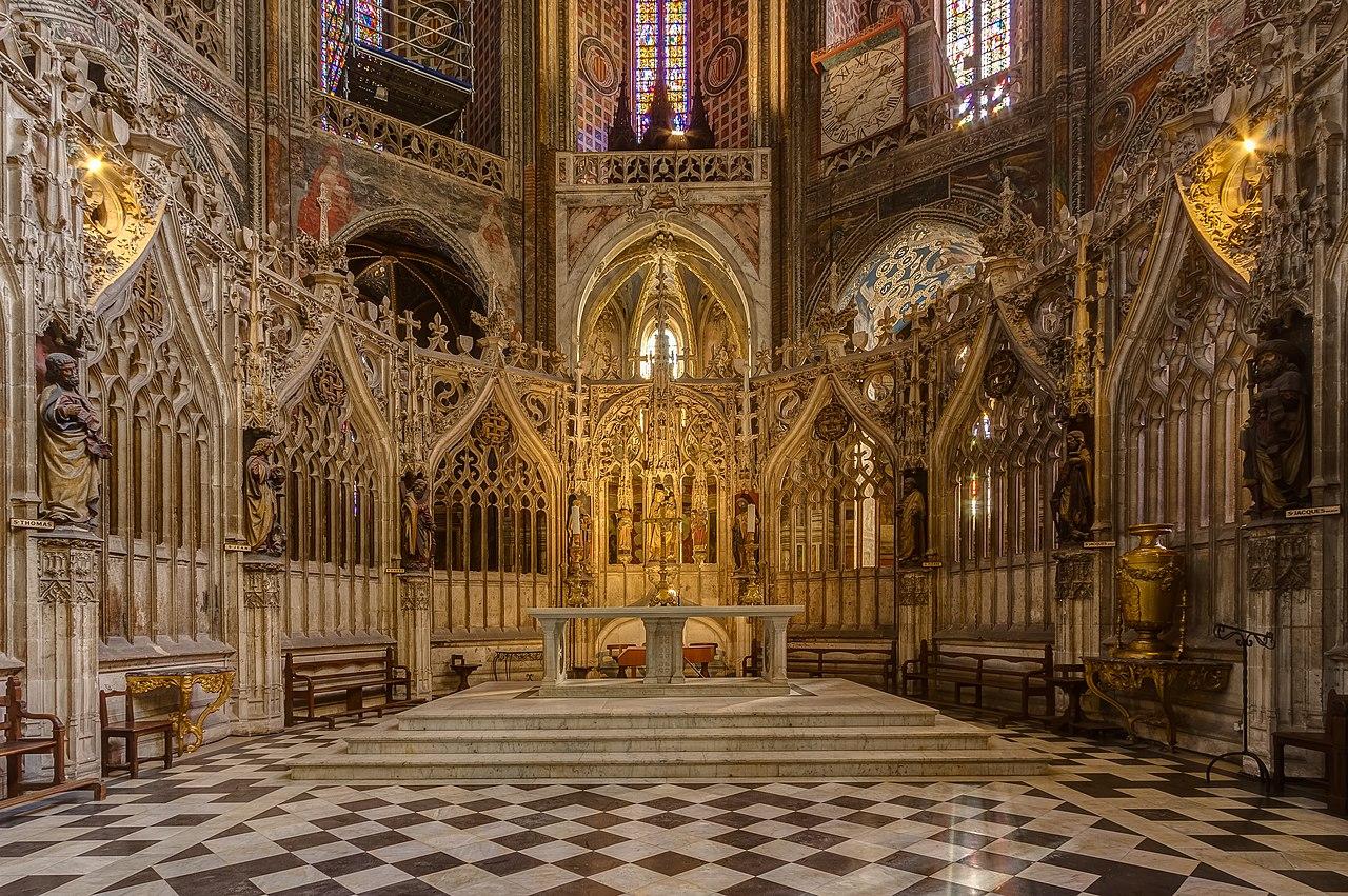 Le chœur de la cathédrale Sainte-Cécile d'Albi (Languedoc-Roussillon-Midi-Pyrénées).  (définition réelle 4089×2719)