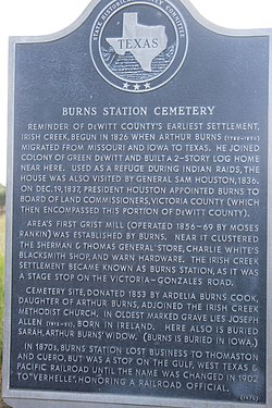 Photo of Sam Houston black plaque
