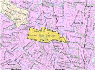 Waldwick, New Jersey - Image: Census Bureau map of Waldwick, New Jersey