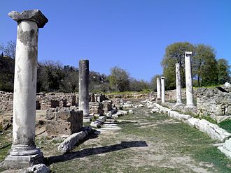 Edessa, Greece - Street of ancient Edessa.