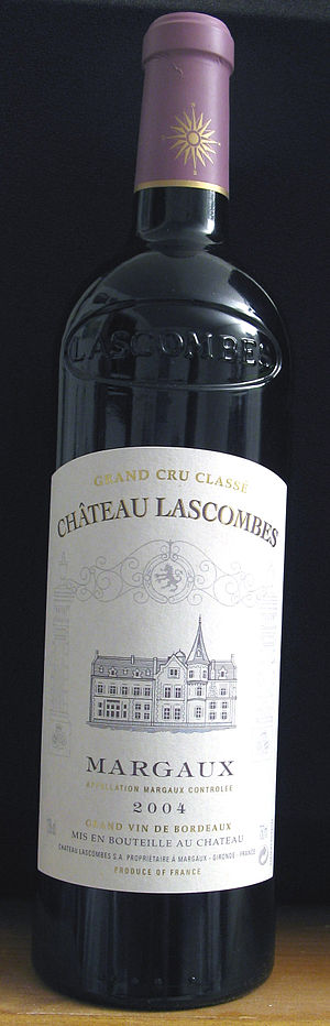 Château Lascombes - A bottle of the 2004 vintage of Château Lascombes