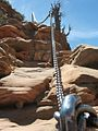 Chains for the last 5,790 feet (1,760 m) of Angel's Landing.jpg