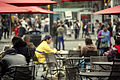 Chairs and tables at Yonge Dundas Square October 2012.jpg