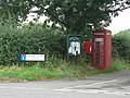 Chalbury Common, postbox No. BH21 31, phone box, noticeboard - geograph.org.uk - 944503.jpg