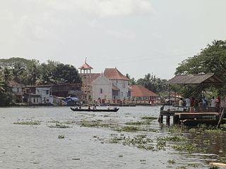 Champakulam Village in Kerala, India