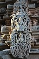 Chandramouleshwar Temple, Idols of godess on gopuram carved in Chalukya style.jpg