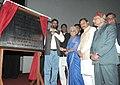 Chandresh Kumari Katoch and the Union Minister of State for Rural Development, Shri Pradeep Jain 'Aditya' jointly unveiling a plaque on Veerangana Jhalkari Bai Archaeological Museum at Jhansi Fort, Jhansi, Uttar Pradesh.jpg