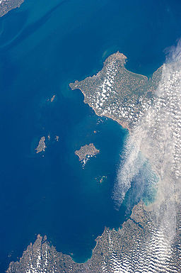 Channel Islands viewed from ISS in 2012