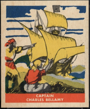 Charles Bellamy - Charles Bellamy card from the 1948 Leaf Pirate Trading Card set