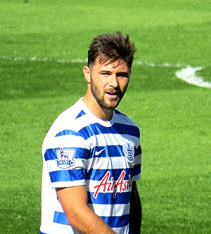 Charlie Austin - Austin playing for Queens Park Rangers in 2015